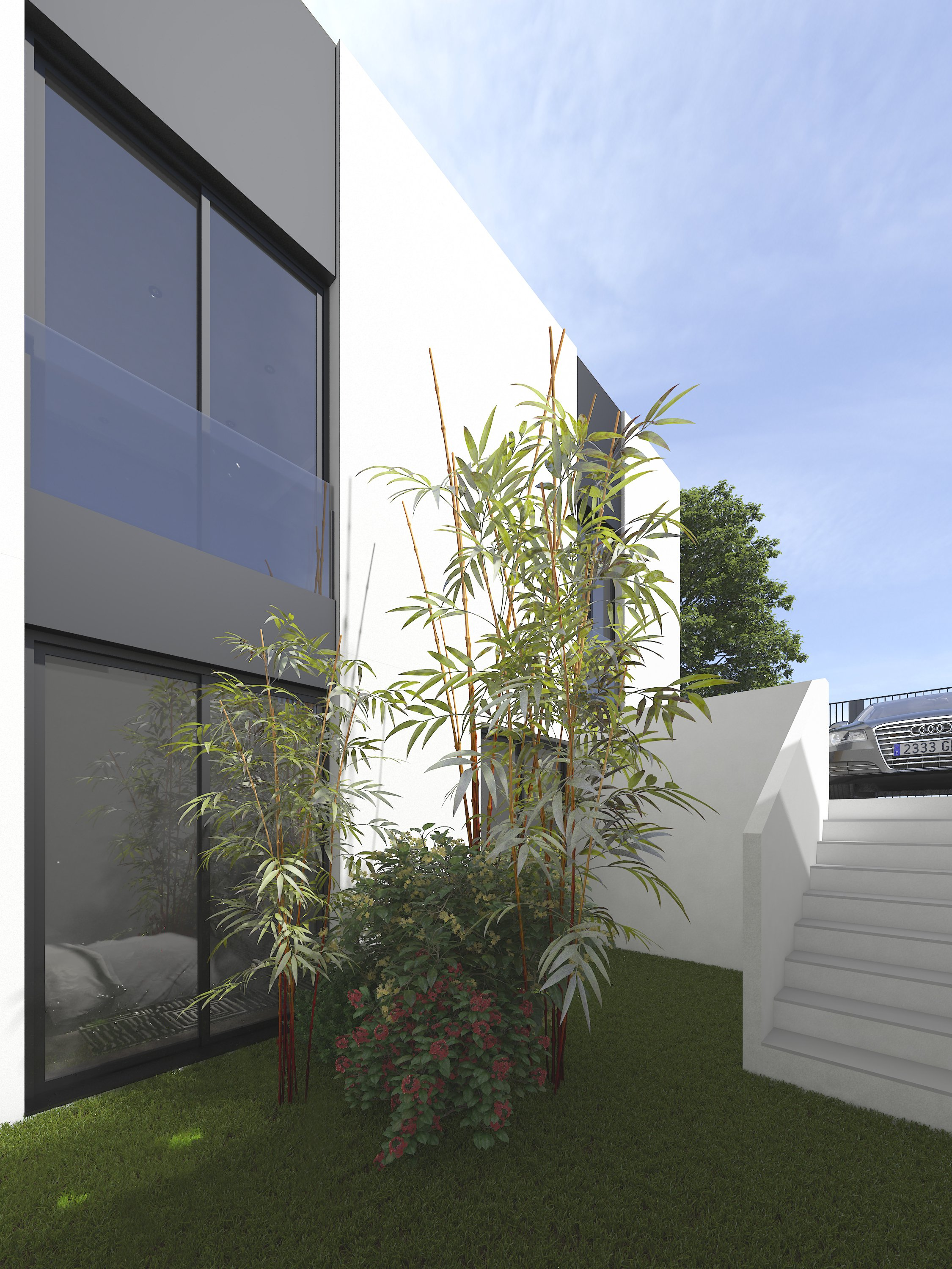 Private garden in connection with the bedrooms